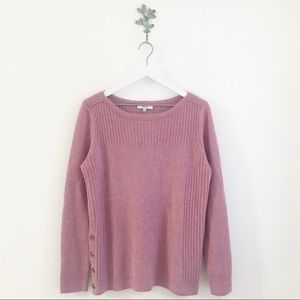 Madewell Pinewood Pullover Sweater Mauve Size L